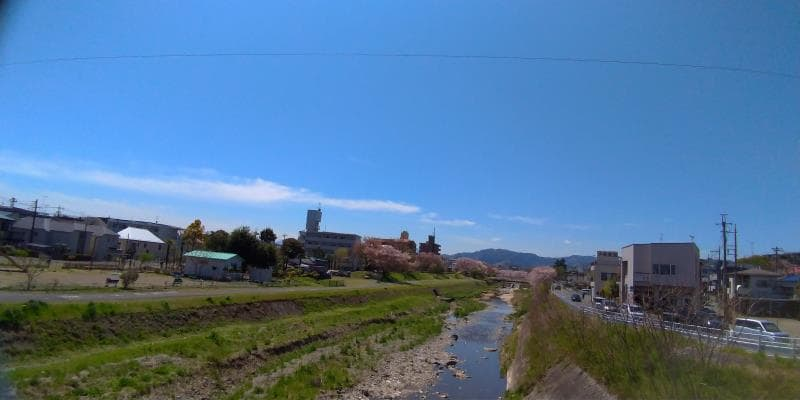 水無瀬橋(みなせばし)からの眺め