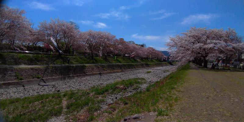 南浅川橋が再び見えてきた様子