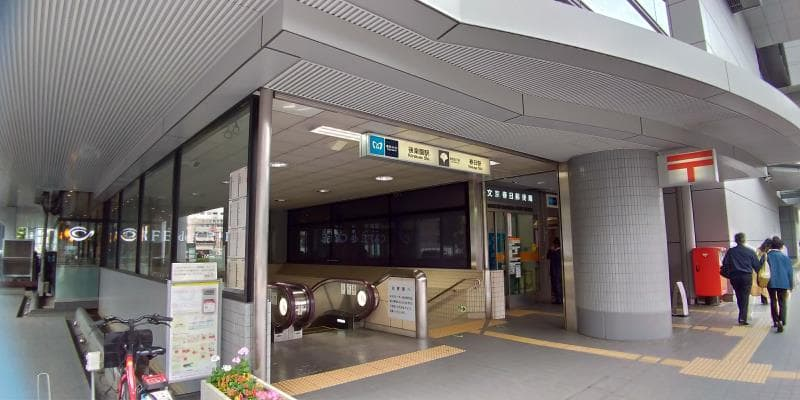 地下鉄の出入口