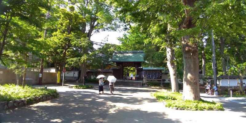 九品仏の入口は木々で囲まれている