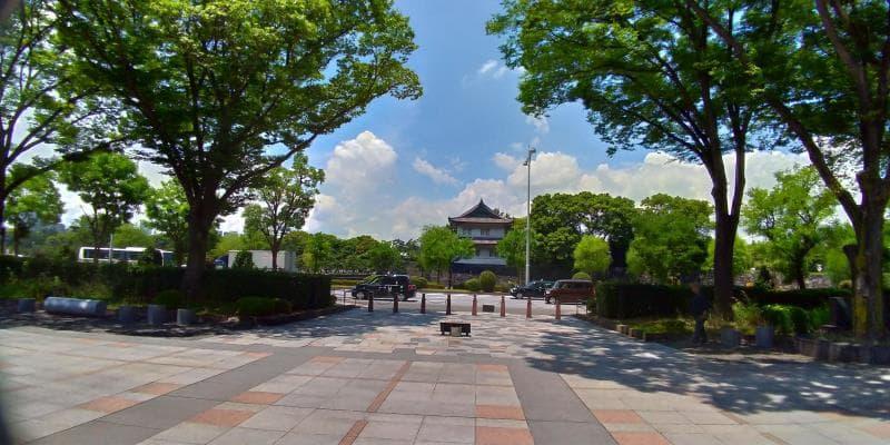 公園から見える櫓