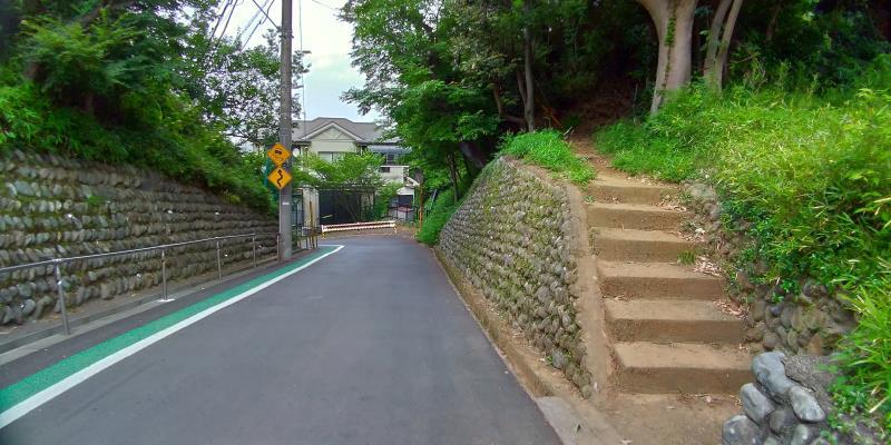 坂の脇の階段
