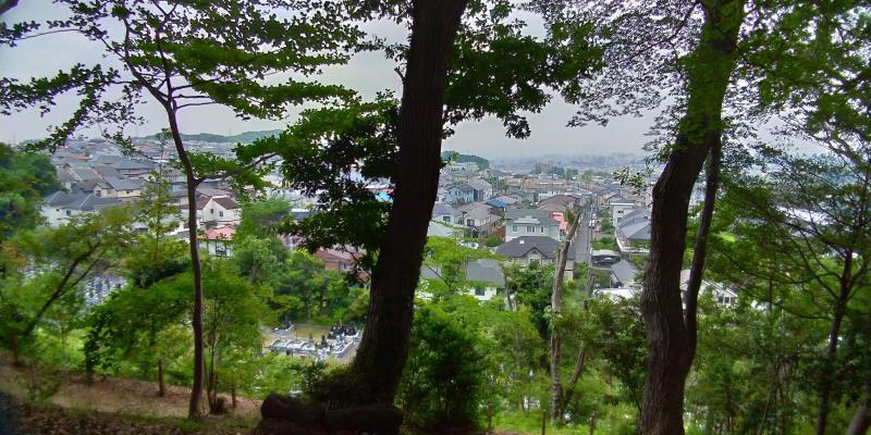 高幡不動尊金剛寺のハイキングコースからの眺め