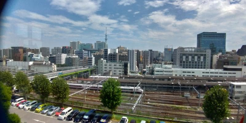 上野駅を見下ろす