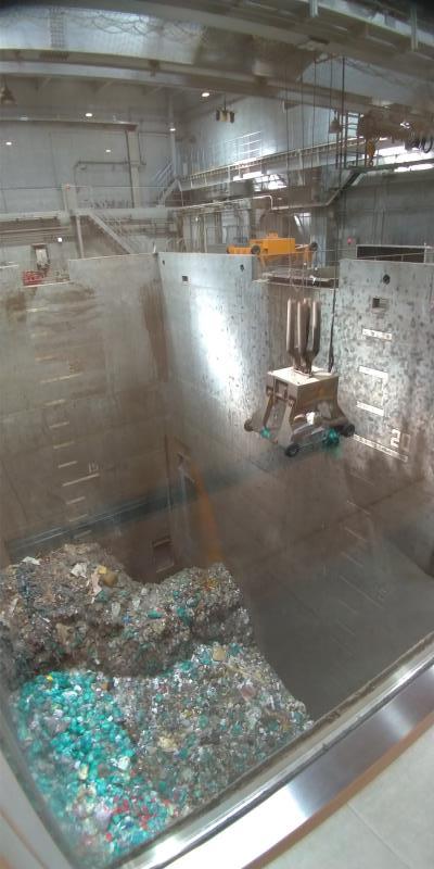 深いゴミ処理場